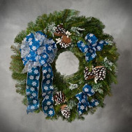 Mountain Snow Wreath