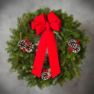 Fully Decorated Balsam Wreath