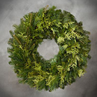 Plain Mixed Greens Wreath