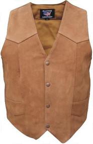 Mens Brown Motorcycle Vest