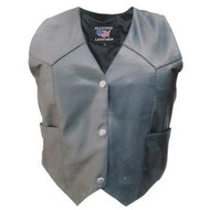 Allstate Leather Ladies Basic Vest in Lambskin