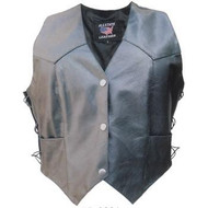 Allstate Leather Ladies Vest in Lambskin