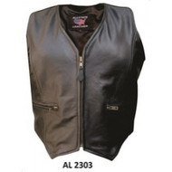 Allstate Leather Ladies Zippered Vest in Lambskin