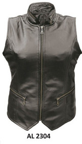 Allstate Leather Ladies HC Zippered Lambskin  Vest