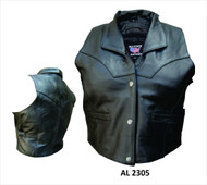 Allstate Leather Ladies  Cowhide Vest
