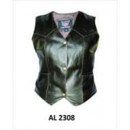 LADIES RETRO BROWN BASIC VEST