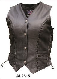Allstate Leather AL2315 Ladies Braided Vest