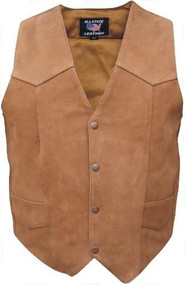Allstate Leather AL2316 Ladies Brown Plain Vest