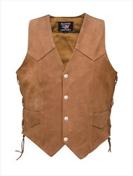 Allstate Leather AL2317 Ladies Brown Vest