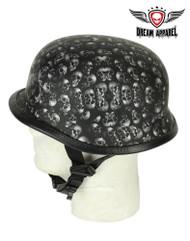 Dream Apparel Grey Skull Graveyard German Novelty Helmet