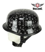 Dream Apparel Glossy Grey Skull Graveyard German Novelty Helmet