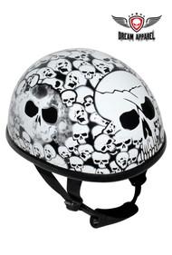 Dream Apparel White Eagle Novelty Helmet with Skulls