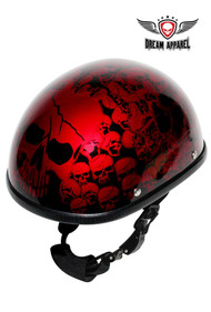 Burgundy Boneyard Eagle Novelty Helmet with Skulls