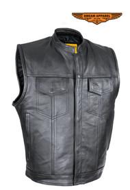 Dream Apparel Naked Cowhide Leather M/C Club Defender Vest