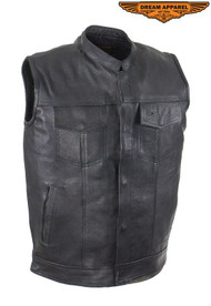 Men's Motorcycle Club Vest With Concealed Carry