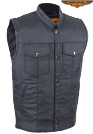 Mens Motorcycle Club Textile Vest With Gun Pocket