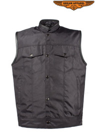 Dream Apparel Mens Textile Motorcycle Vest With Concealed Carry