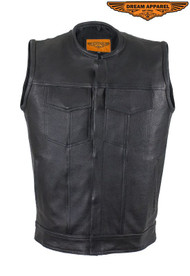 "Dream Apparel Mens 1/2"" Collar Motorcycle Club Vest"