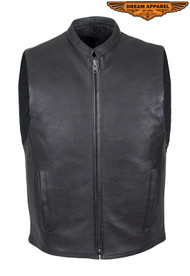 Dream Apparel Mens Leather Motorcycle Club Style Vest
