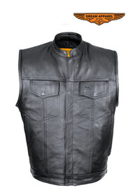 Dream Apparel Split Cowhide Leather Motorcycle Club Vest