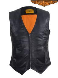 Dream Apparel Womens Cowhide Leather Classic Vest