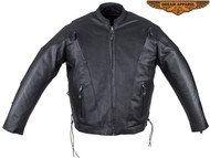 Mens Vented Racer Jacket with Side Laces with Gun Pockets