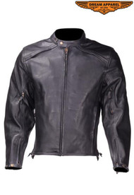 Dream Apparel Mens MJ6024-01  Motorcycle Racer Jacket