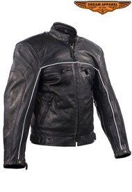 Dream Apparel Mens Racer Jacket with Relfective Piping