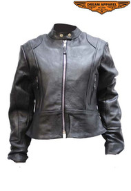 Dream Apparel Womens LJ212-NEW-SS  Leather Jacket With Z/o Lining