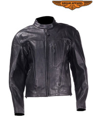 Dream Apparel Womens  Leather Jacket With Removable Liner