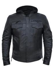 Unik International 6905.LA Mens Lambskin Vented Hoody Jacket