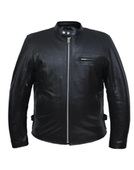 Unik International 502.00 Mens Buffalo Leather Scooter Jacket