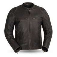 First Manufacturing  Mens FIM278CV Brown Indy Scooter Jacket