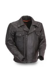 Mens  M/C Style FIM244BNKDZ  Mastermind Jacket  by First Mfg.
