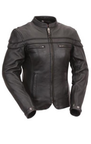 Womens FIL162NTCZ Maiden Scooter Jkt by First Manufacturing