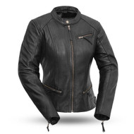 Womens FIL104CHMZ Sexy Biker Jkt by First Manufacturing