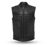 Mens FIM649CP Rampage  Leather  M/C Vest by First Mfg