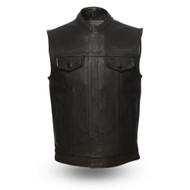 Mens FIM686CPM Hotshot  Leather  M/C Vest by First Mfg