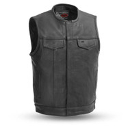 Mens FIM639NOC No Rival   Leather  M/C Vest by First Mfg
