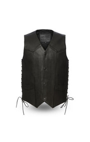 Mens FIM644CPM Western Style  M/C Vest by First Mfg