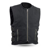 Mens FIM660CNVS Knox  M/C Vest by First Mfg