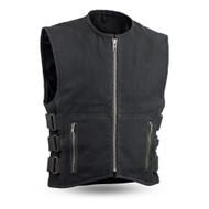 Mens FIM660CNVS Knox  M/C Vest by First Mfg