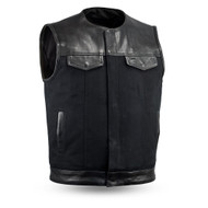 Mens  FIM4951CNV-N 49/51 No Collar  M/C Vest by First Mfg