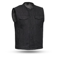 Mens FIM634DM Haywood Denim M/C Vest by First Mfg