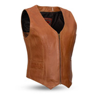 Womens FIL544SDM(BR) Savannah M/C Vest by First Mfg
