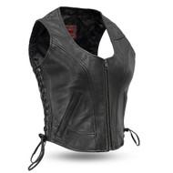 Womens  FIL542GDD Raven   M/C Vest by First Mfg