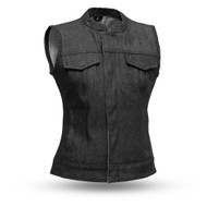 Womens FIL516DM Ludlow Denim  M/C Vest by First Mfg