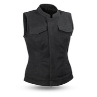 Womens FIL516CNVS  Ludlow Canvas  M/C Vest by First Mfg