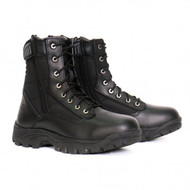 "Hot Leathers Mens 6"" Swat Boot with Double Side Zippers"