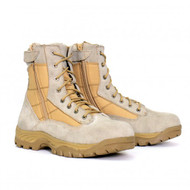 Hot Leathers Mens Desert Tan Military Swat Boot with Side Zipper